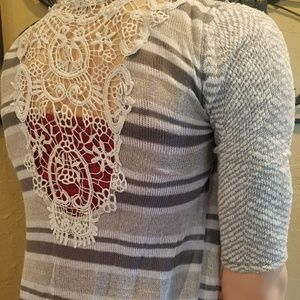 Lace design cardigan